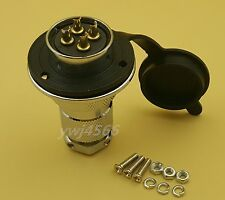 Aviation Plug GX25 4Pin Gold-Plated Flange Socket Openings 25mm Good Quality