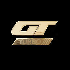 GT TURBO Metal Decal Stickr Badge For Car Truck Bike Deco (G)