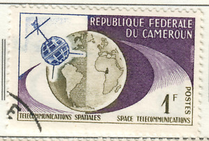 Cameroon - 1963 The 1st Trans-Atlantic Television Satellite Link