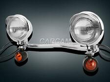 Motorcycle Driving Passing Turn Signals Chrome Spot Light Bar for Suzuki Cruiser