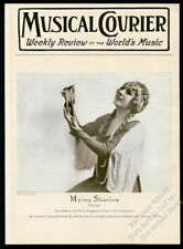 1930 Myrna Sharlow photo Musical Courier framing cover