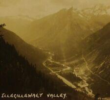 DAMAGED Byron Harmon #256 Illecillewaet Valley Canada RPPC VTG Photo Postcard