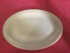 Green Fire King Oven Glass Oval Serving Plater