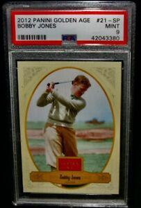 PSA 9 Mint 2012 Panini Golden Age BOBBY JONES Golf Card #21-SP