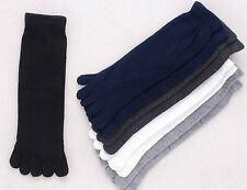 Hot Mens Womens Socks Pure Cotton Five Finger Socks Black ToeSock BIG SALE