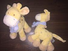 1Stück- Plüschtier Kuscheltier Knistert Giraffe C&A Nicotoy Kuh Beige Blau Schal