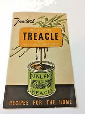 Vintage Fowlers West India Treacle Recipe Book Recipes for the Home