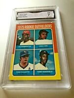 FRED LYNN Rookie Card 1975 Topps #622 GMA Graded 7 NM