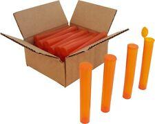 (25) Pre-Roll Tubes - Orange 109mm King Size Herbs Storage Meds Spices Prt109To