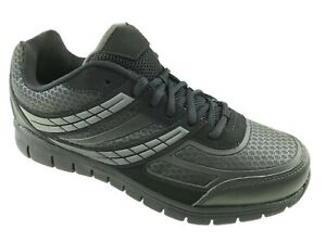 MENS COMFORT INSOLE LACE UP NON SLIP WORK  SAFETY TRAINERS WALKING SHOES