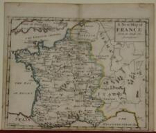 FRANCE KINGDOM OF FRANCE 1744 JOHN SENEX ANTIQUE ORIGINAL COPPER ENGRAVED MAP