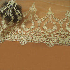 Gold Guipure Trim Ribbon Bridal Lace Applique Embroidery Wedding Craft 22cm Wide