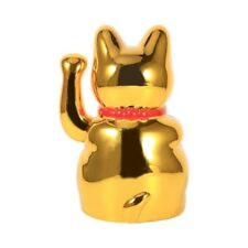 Chinese Lucky Wealth Electric Waving Cat Beckoning Golden Cat Gold Useful D8C