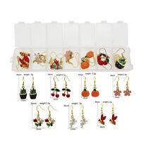 1 Pair Enamel Paint Metal Alloy Mixed Earrings Dangle Hooks Jewelry Crafts Decor