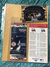 2004 World Series Ticket  AS SHOWN IN PICS WITH CARD Boston Red Sox vs Cardinals
