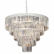 Vitaluce 17 Light Crystal Metal Ceiling Pendant Chandelier, Cream