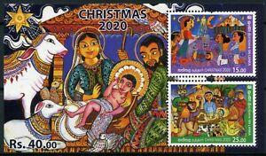 Sri Lanka 2020 MNH Christmas Stamps Nativity 2v M/S