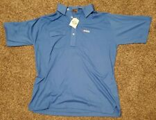 Official Michelob Beer Men's XL Cross Creek Pocket Polo Blue Shirt NEW MADE USA