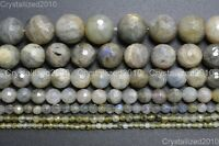 """Natural Labradorite Gemstone Faceted Round Beads 3mm 4mm 6mm 8mm 10mm 12mm 16"""""""