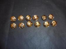 Gold finish Ambulance Medical Uniform Buttons Set of 12 -  25mm