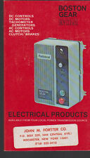 Boston Gear Catalog Electrical Products EP78 1978