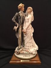 Florence Giuseppe Armani BRIDE AND GROOM Figurine Vintage 1984 Rare Striped Pant