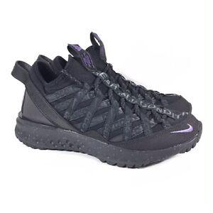 Nike ACG React Terra Gobe Hiking Trail Shoes Black Purple BV6344-001 Mens Sz 5.5