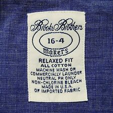 16-34 Brooks Brothers Makers MADE IN USA Relaxed Fit Blue Dress shirt w/ Pocket