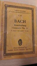 Bach: Brandenburg Concerto 4, Sol maggiore, N. 281: tasca Music Score