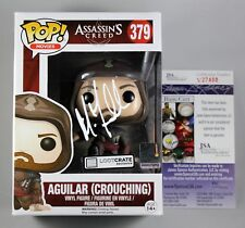 MICHAEL FASSBENDER SIGNED ASSASSINS CREED AGUILAR CROUCHING FUNKO POP FIGURE JSA