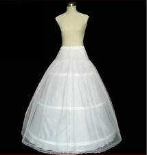 White A-Line 3 Hoop 2 Layer Bridal Wedding Gown Dress Slip Underskirt Petticoat
