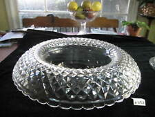 """WATERFORD """"WALSH"""" TURNOVER BOWL, 14""""W, 5.25""""H, W/COVER; VERY GOOD CONDITION."""