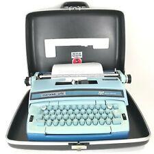 Smith Corona Coronet Super 12 Portable Blue Electric Typewriter & Case TESTED