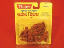 Timpo 54mm Amerian Western Cowboys Plastic Figures Set New In Package!