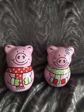 More details for m&s christmas percy pig 🐷 penny pig biscuit tins x2 new signed post one of each