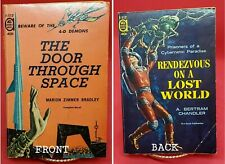 Door Through Space by Bradley, Rendezvous on a Lost World by Chandler, ACE 1961