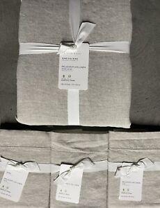 Pottery Barn Belgian Flax Linen King Duvet & 3 Euro Shams In Flax