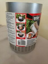 BBQ Charcoal Chimney Starter Weber 7447 Quick Grill Lighter Compact Rapidfire