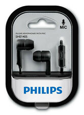 NEW Philips SHE1405 In-Ear Earphones w/Mic fr iOS Android iPhone Samsung Sony LG