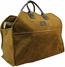 Inno Stage Heavy Duty Wax Canvas Log Carrier ToteLarge Fire Wood BagDurable F.