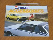 1981 Datsun Pulsar original 8 sided foldout Accessories brochure