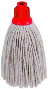 Heavy Duty Floor Cotton Mop Head Screw Socket Type Red Color Coded Cleaning Mop