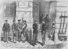MADRID. Revolution in Spain. Volunteers of liberty in the Puerta del Sol, 1868