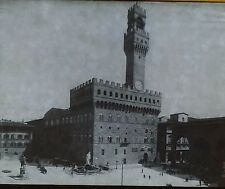 Palazzo Vecchio, Town Hall in Florence, Italy, Magic Lantern Glass Slide