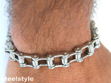 LARGE BIKER GOTHIC STAINLESS STEEL 316L BIKE CHAIN BRACELET