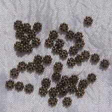 Lot de 100 intercalaires coupelles 4mm séparateurs perles bronze *J7