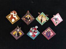 Wdw Villains Square 2005 Disney Cast Lanyard 7 Pin Complete Set