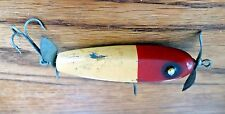 Vtg Paw Paw Bait Co Wounded Minnow Fishing Lure w Propellers c1940 Wood Rare