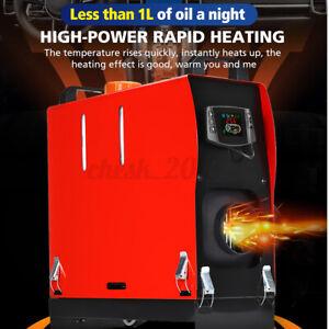 8KW 12V Portable Air Diesel Heater Tank LCD Silencer Caravan Motorhome Remote-AU