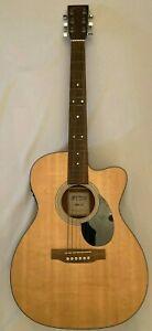 2010 Martin OMC- 1E Electronic Acoustic Guitar Made In USA Crack in Binding